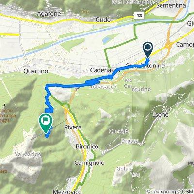 Route von Via Cantonale 39, S. Antonino