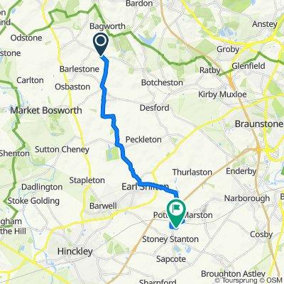 Garland Gables, Garlands Lane, Nuneaton to 3 Baum Crescent, Leicester