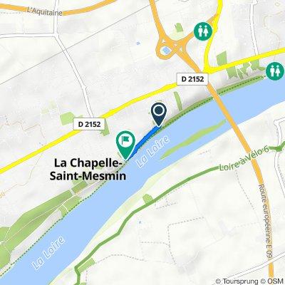 De 2 Rue des Chaffaults, La Chapelle-Saint-Mesmin à 2 Rue de Bellevue, La Chapelle-Saint-Mesmin