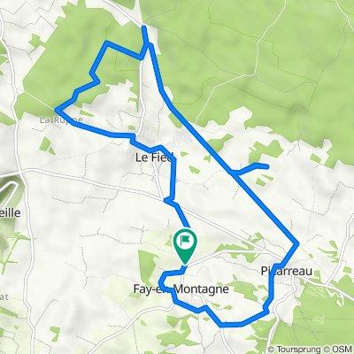 De 1 Route de Le Fied, Fay-en-Montagne à 1 Route de Le Fied, Fay-en-Montagne