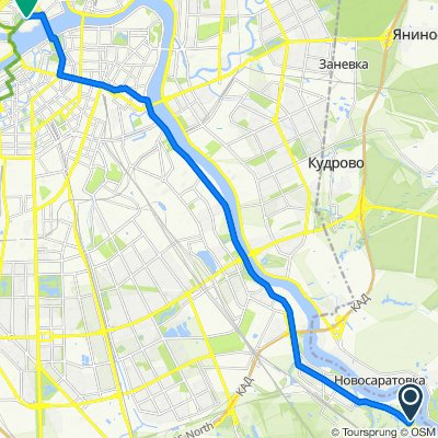 От Советский проспект, 32литЕ, Санкт-Петербург до Кронверкская набережная, Санкт-Петербург
