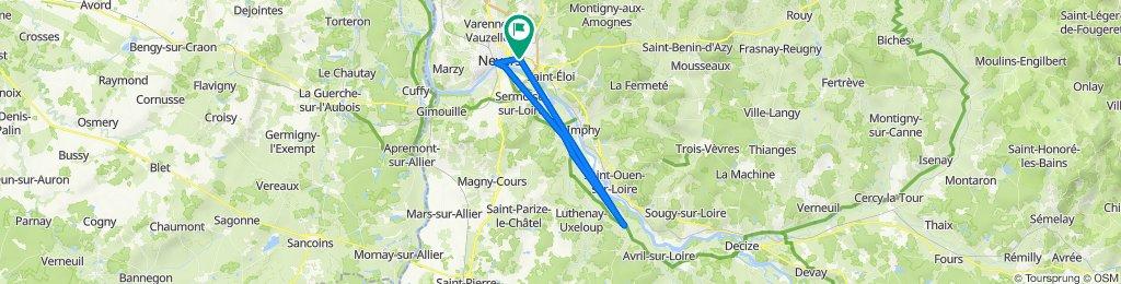 De Rue des Vignes 9, Nevers à Rue des Vignes 8, Nevers