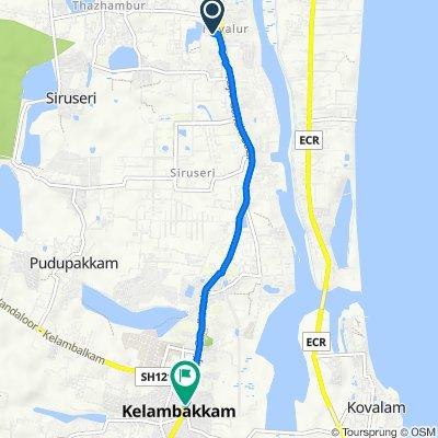 Navalur to Old Mahabalipuram Road 17, Kelambakkam