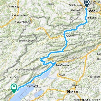 1988 - Tour de France - 01. Tag - Basel - Bevaix