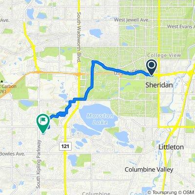 3152 W Jefferson Ave, Sheridan to 9683 W Prentice Ave, Littleton
