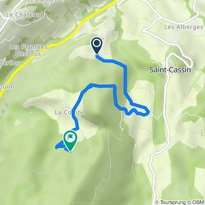 Itinéraire à partir de 1160 Route de la Désertaz, Saint-Cassin
