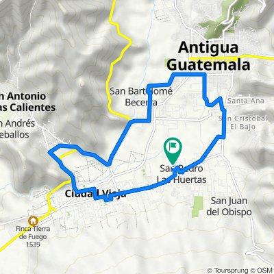 De Unnamed Road, San Pedro Las Huertas a Unnamed Road, San Pedro Las Huertas