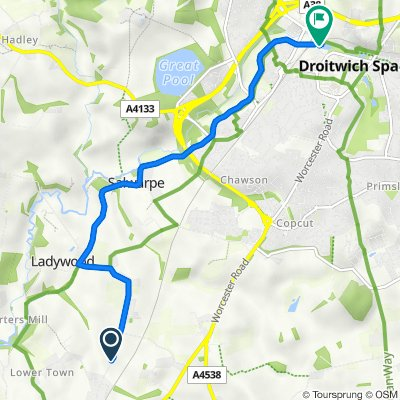 Fernhill heath to Railway (Droitwich)