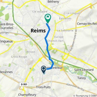 De 30–42 Avenue du Languedoc, Cormontreuil à 84 Rue Charlier, Reims