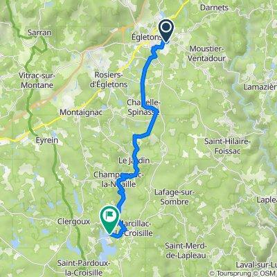 Jour 1 départ Egletons - Marcillac