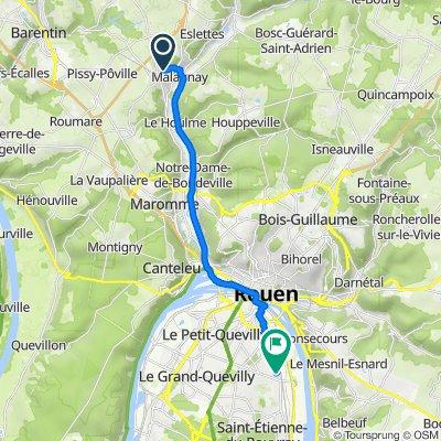 De 123 Rue Jean Moulin, Malaunay à 14 Rue de la Cité Thuillier, Sotteville-lès-Rouen