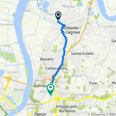 De 95 Rue Boris Vian, Ambarès-et-Lagrave à 1–13 Rue Ernest Bazille, Lormont