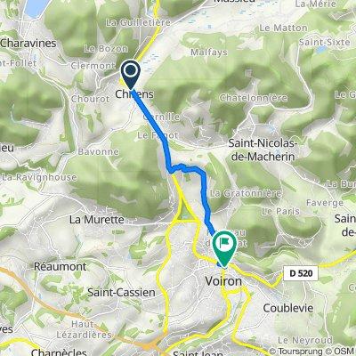 De 285 Route du Bourg, Chirens à 1–19 Place du Général Leclerc, Voiron