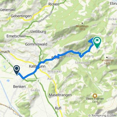 Route von Starrbergstrasse, Benken SG