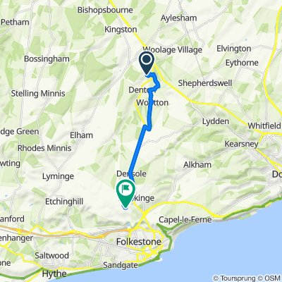 Canterbury to Page Road 18, Hawkinge