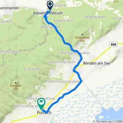 L311 7, Kaisersteinbruch nach Türkenstraße 18, Purbach am Neusiedler See