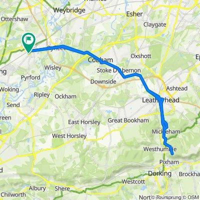 10 Regency Dr, West Byfleet to Box Hill loop.