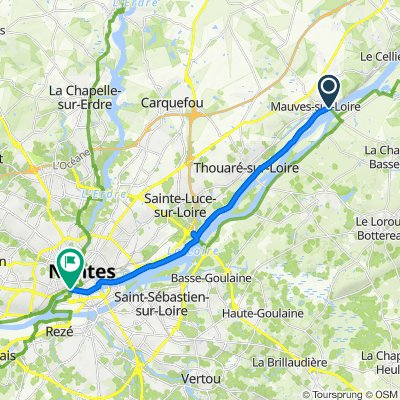 Chemin du Bout du Monde 1, Mauves-sur-Loire to Rue Gaston Michel, Nantes
