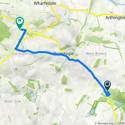 Route to Quarry Farm Road, Pool In Wharfedale, Otley