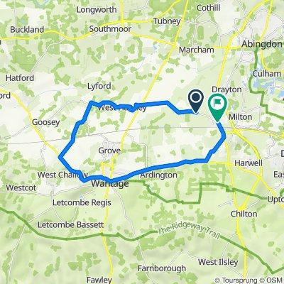 110–124 Hanney Road, Steventon, Abingdon to 1 Abingdon Road, Abingdon