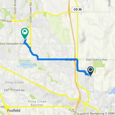 24625 E Belleview Ave, Aurora to 3291 S Uravan Ct, Aurora