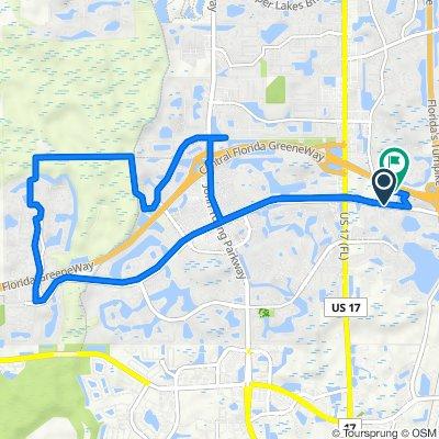 W Town Center Blvd, Orlando to 1148 Courtney Chase Cir, Orlando