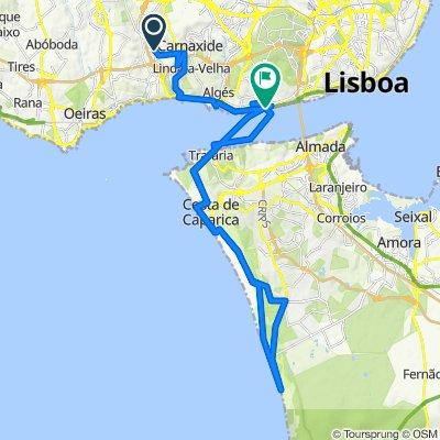 Volta Queijas - Costa de Caparica - Fonte da Telha - Belem