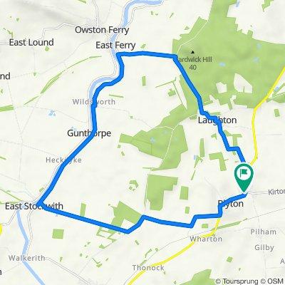 Kirton Road, Blyton, Gainsborough to Brookfield Grange, 1B Laughton Road, Gainsborough