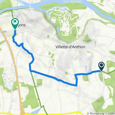 Rue des Robiniers, Villette d'Anthon to Chemin de Mure, Jons
