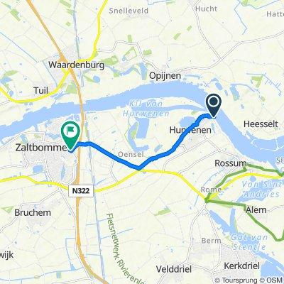 Waaldijk 2, Hurwenen naar P.J. Troelstrastraat 23, Zaltbommel