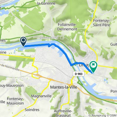 Itinéraire vers 3 Rue Georges Danton, Limay