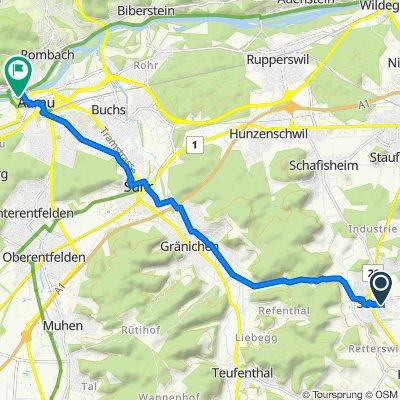 Reussgasse 21B, Seon to Albert-Einstein-Weg, Aarau