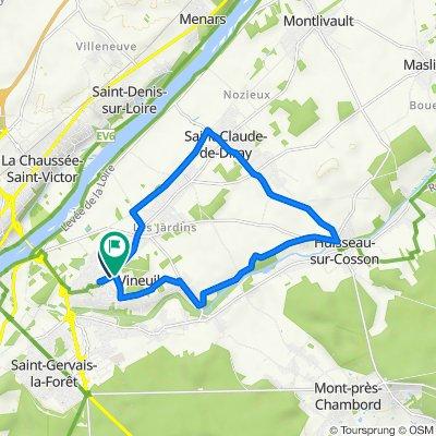 De 36 Avenue des Tailles, Vineuil à 4–6 Rue du Stade, Vineuil