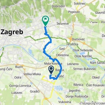 Klarići ulica 51c, Velika Gorica to Platana ulica 6, Zagreb