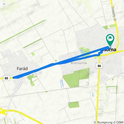 Park utca 4., Csorna to Andrássy utca 12., Csorna
