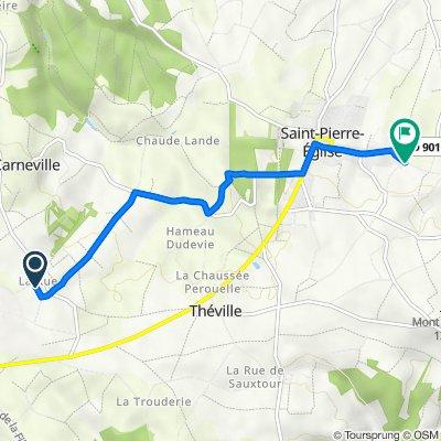 De 14 La Rue, Carneville à 28 Rue des Landes Michaud, Saint-Pierre-Église
