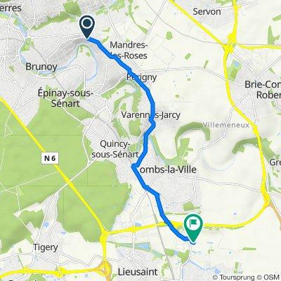 De Route de Brie 220, Brunoy à Chanteloup Manet, Moissy-Cramayel