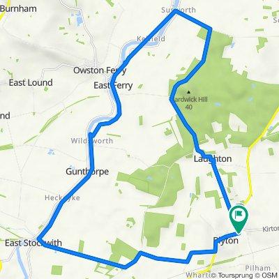 7 Laughton Road, Gainsborough to 106 High St, Gainsborough