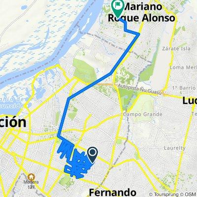 De R.I.18 Pitiantuta 536, Asunción a Mcal Estigarribia, Mariano Roque Alonso