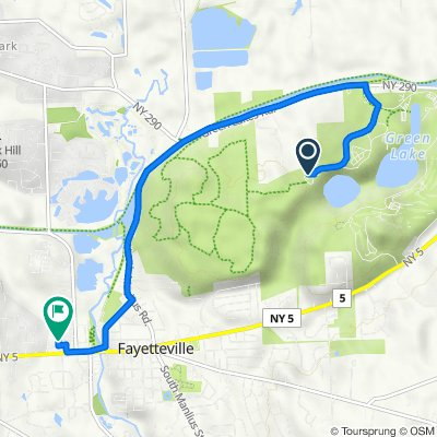 Route to 350 Towne Dr, Fayetteville