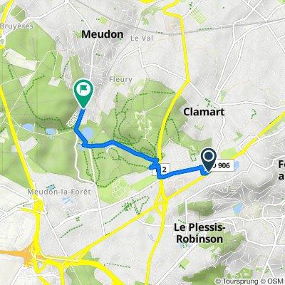 De 110 Avenue du Général de Gaulle, Clamart à 10 Avenue de Trivaux, Meudon