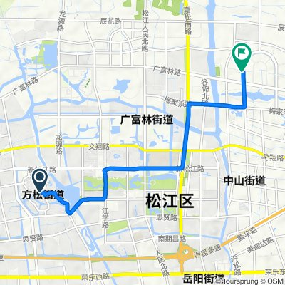 Route to Guangxing Road 1855 Long, Shanghai