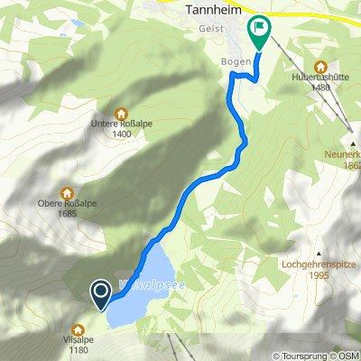 Bogen, Tannheim nach Oberhöfen, Tannheim