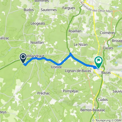De 1 Au Bois du Castagnet, Villandraut à 11 Avenue de Verdun, Bazas