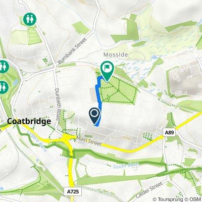 Route from 65 Albion St, Coatbridge