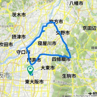 18-11, Inadauemachi 1-Chōme, Higashiosaka to 3-25, Inadashimmachi 2-Chōme, Higashiosaka