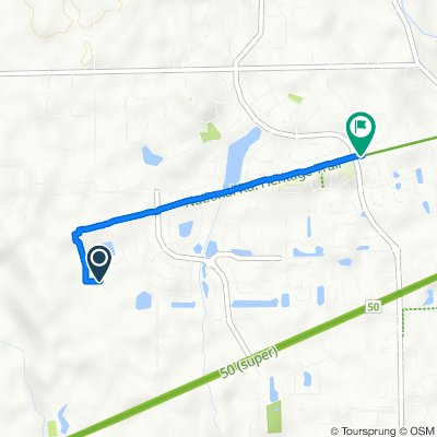 Route to 4446 Connaught W Dr, Plainfield