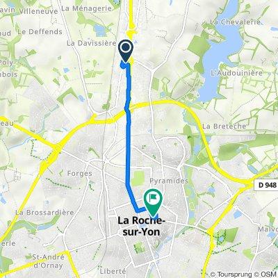De 170 Rue Philippe Lebon, La Roche-sur-Yon à 33 Rue Marcellin Berthelot, La Roche-sur-Yon