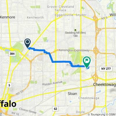 254 Crescent Ave, Buffalo to 200 Central Blvd, Buffalo