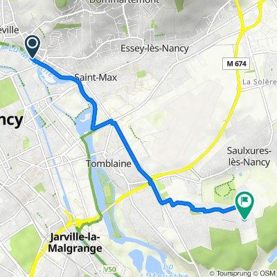 De 55–73 Rue de Jéricho, Malzéville à 21 Rue Louis Majorelle, Saulxures-lès-Nancy